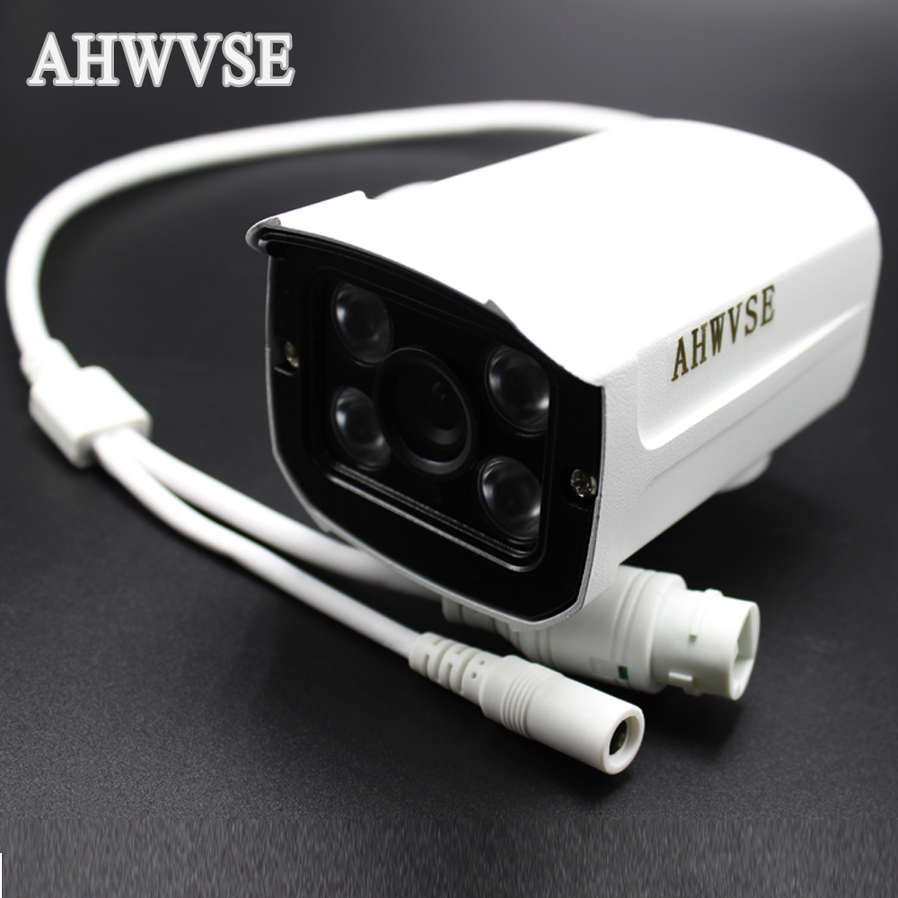 AHWVSE New Arrival Home 25fps Security Camera CCTV 4Pcs Array LED Waterproof Outdoor Surveillance IP Camera FULL HD 1080P 2MP free shipping new 1 3 sony ccd hd 1200tvl waterproof outdoor security camera 2 pcs array led ir 80 meter cctv camera