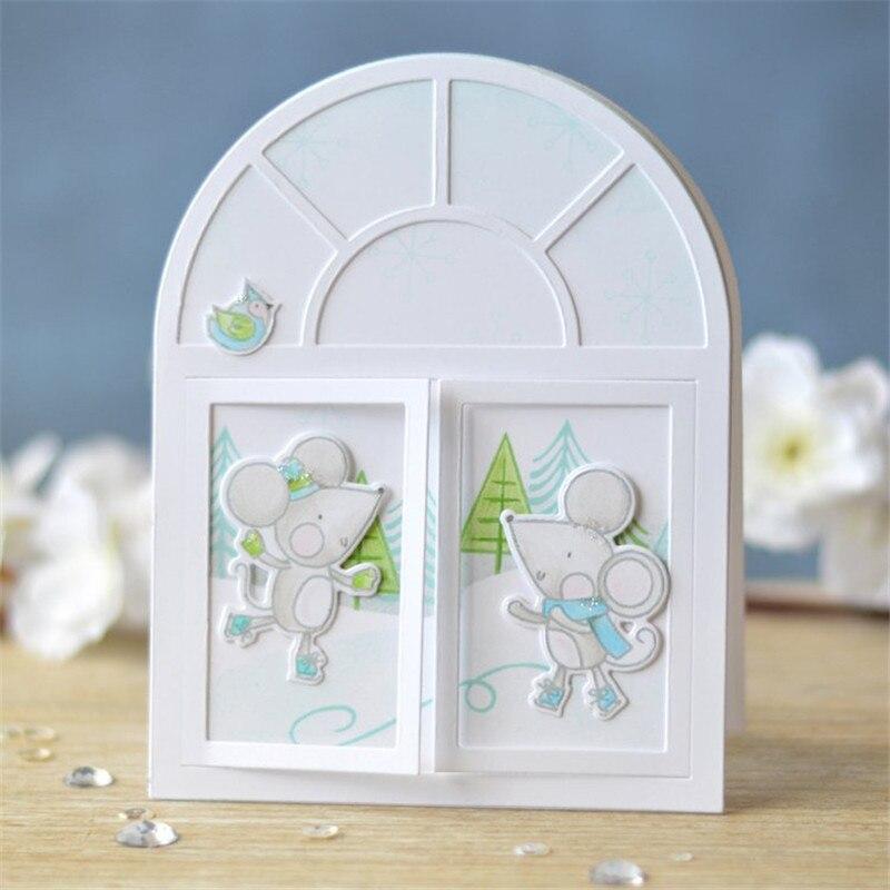 Windows Door Leaves Holly Frame Metal Cutting Dies for Scrapbooking New 2019 Craft Embossing Die Cut Decorative Card Making