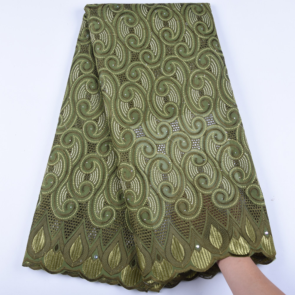 African French Voile Lace Fabric Swiss Voile Lace In Swizterland High Quality Nigerian Cotton Lace Fabric For Men Dress <font><b>1602B</b></font> image