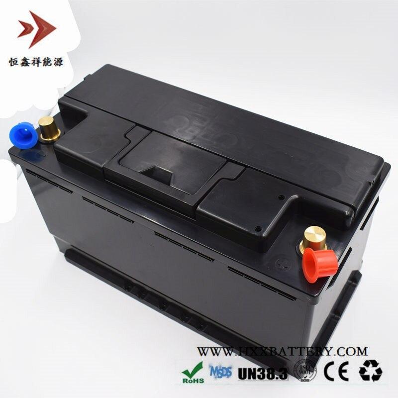 12,8 V 90AH LiFePo4 LFP batería de fosfato de hierro de litio con BMS Junta 1000A CCA para batería de coche larga vida ciclos profundos