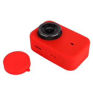 Image 5 - LANBEIKA For Xiaomi Mijia 4K Accessories Silicone Protection Case + Lens Cover Mount Kit Skin for Xiaomi Mijia 4K Action Cam