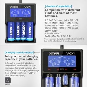 Image 3 - XTAR VC2 VC4 Battery Charger Universal LCD Screen Display USB Ni MH/Ni CD Li ion 18650 20700 21700 22650 26650 18500 18700 16340