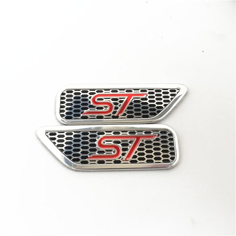 Pair Black Chrome Metal SRT Hellcat Side Fender Emblem Sport Badge Door Sticker