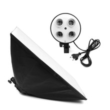 Camera Photo Studio Kit Photography Lighting 4 Socket Lamp Holder + 50x70CM Softbox Photos Soft Box Not Included 2m Light Stand