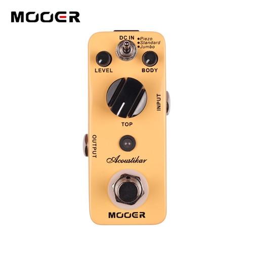 MOOER Acoustikar Simulator Effects Pedal with 3 Working Modes mooer ensemble queen bass chorus effects pedal