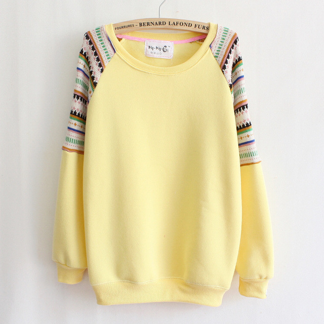 2016 otoño/invierno nuevas camisetas ocasionales para las mujeres de alta calidad que hace punto grueso suéter caliente sudaderas 12 colores