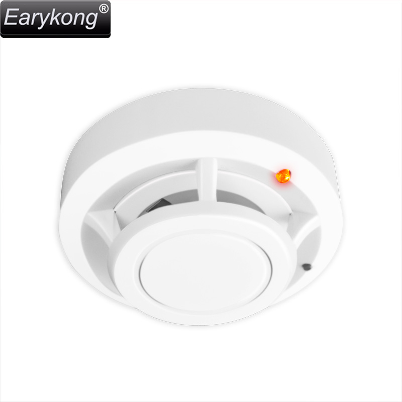 Fire Protection 433MHz Smoke Detector Wireless White Color Smoke Sensor Highly Sensitive alarm fire For GSM/Wifi Alarm System wireless vibration break breakage glass sensor detector 433mhz for alarm system