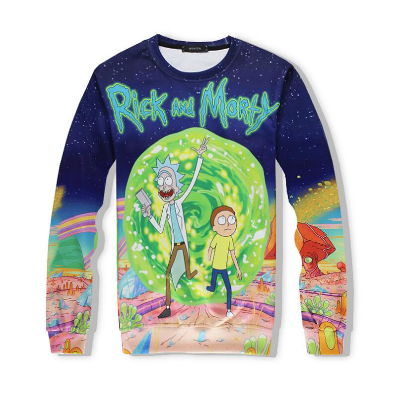 Cartoon Rick and Morty Costume Sweatshirts Men Women Streetwear Hipster Pullovers Funny Scientist Rick 3d Print Sweatshirt
