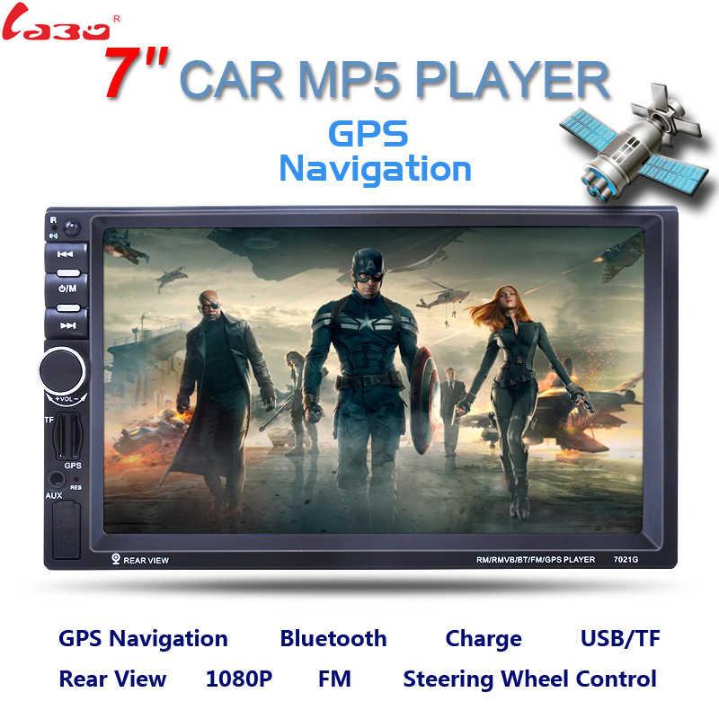 7インチ2ディンhd車ラジオmp5プレーヤーでデジタルタッチスクリーンのbluetoothのusb/tf/fm dvr/aux入力サポートハンズフリー車の充電gps