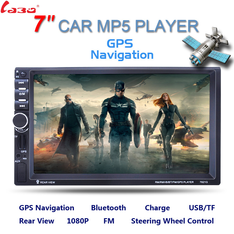 7inch 2 Din HD Car Radio MP5 Player With Digital Touch Screen Bluetooth USB/TF/FM DVR/Aux Input Support Handsfree Car Charge GPS image