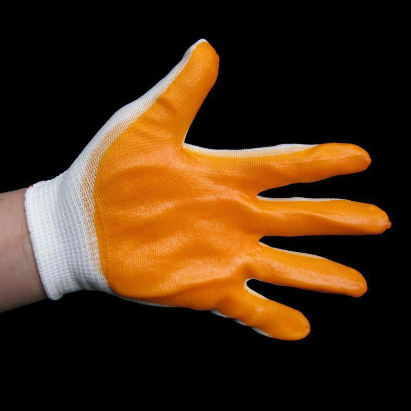 New High Quality 1 Pair Working Protective Gloves Prevent Slippery Wear-resisting Nylon Latex Cotton Glove WholeSale high quality 1 pair right