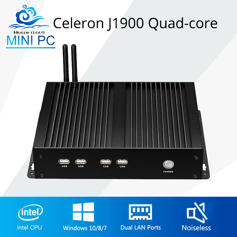 Fanless Mini PC Industrial PC Mini Computer Dual LAN 4 COM Celeron J1900 Computer Desktop Windows 10 Linux 4*rs232 newest mini pc computer celeron j1800 2 41ghz dual lan n2830 industrial thin client no fan design micro windows7 os 2 rs232