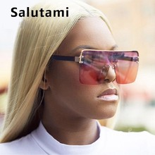 One Piece Square Sunglasses For Women 2019 Ins Hot Fashion H