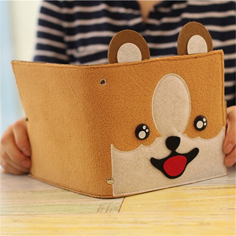 Cartoon Dog Suede Notebook Creative Cute Animal Diary Notebooks School Supplies Stationery Kawaii Planner Notepad Fine Gift 1pc creative cute cartoon animal planner notebook diary book wooden school supplies student gift