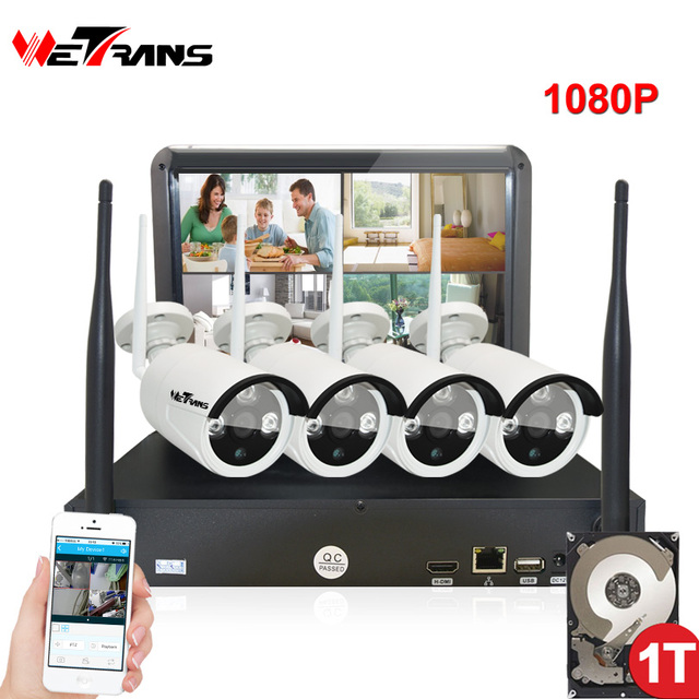 Wireless Security Cameras Home Surveillance System with Monitor 10.1 ...