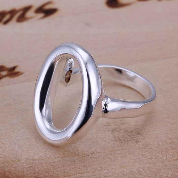เงิน 925 แหวนแฟชั่น O เปิดเครื่องประดับแหวนผู้หญิงผู้ชายแหวน SMTR008