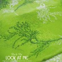 Jenny1986 Green 100 Squid Silk Georgette Skirt Dress And Thin Silk Fabric Cloth 2017 6 9