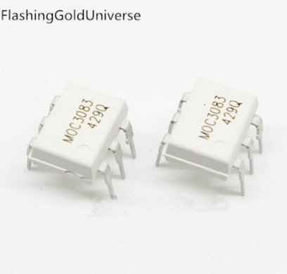 Free shipping 500pcs/lot MOC3083 DIP 6 New original-in Integrated Circuits from Electronic Components & Supplies