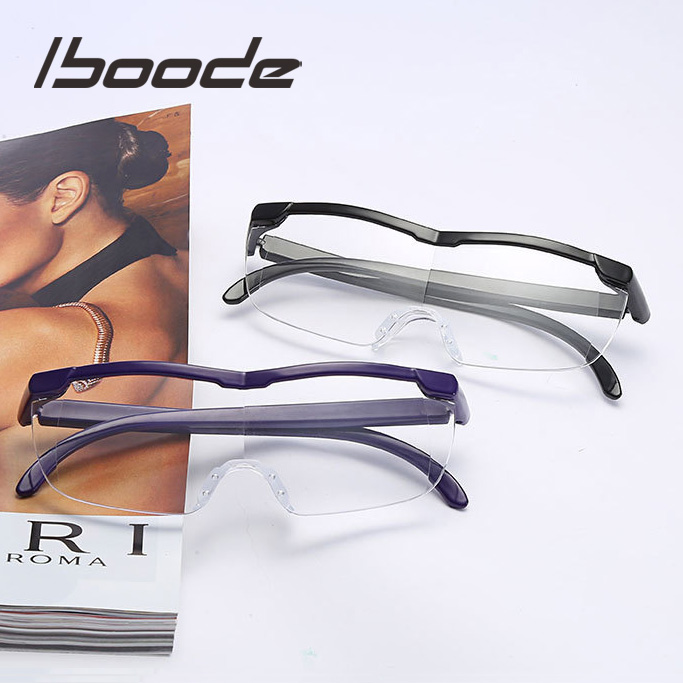 Iboode Reading Glasses Men Women Big Vision Magnifying 1.6 Times Vintage Eyewear Magnifier +250 Magnifies Vision Lens