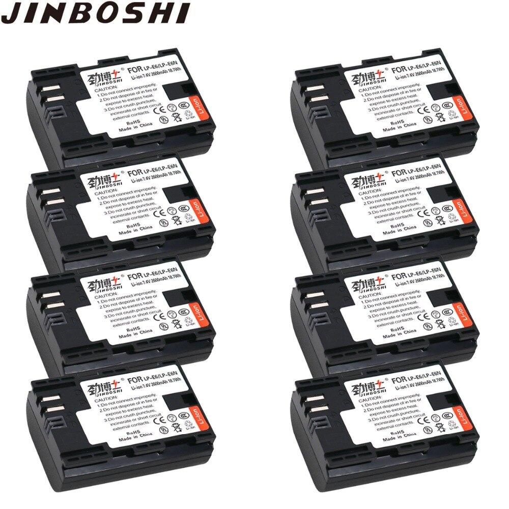 8 Packs LP-E6 LP-E6N LP E6 Batteria di Ricambio per Canon EOS 60D, 70D, 5D Mark II, 5D Mark III, 5D Mark IV, 5DS, 5DS R, 6D, 7D,8 Packs LP-E6 LP-E6N LP E6 Batteria di Ricambio per Canon EOS 60D, 70D, 5D Mark II, 5D Mark III, 5D Mark IV, 5DS, 5DS R, 6D, 7D,