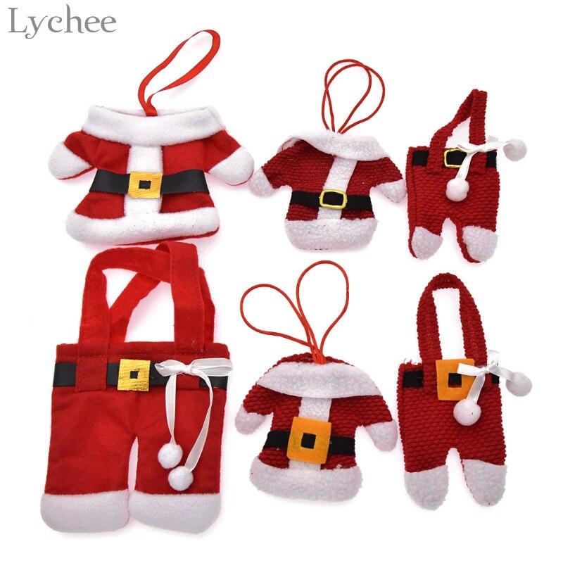 Lychee Santa Claus Pants Christmas Pendant Xmas Tree Ornaments Kids Gifts DIY Christmas Decorations