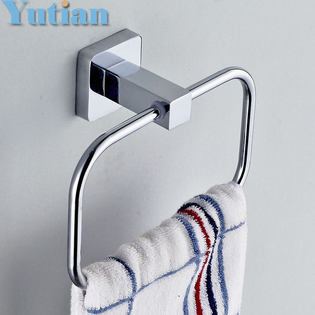 HOT SELLING, FREE SHIPPING, Bathroom Towel Holder, Stainless Steel  Wall Mounted Round