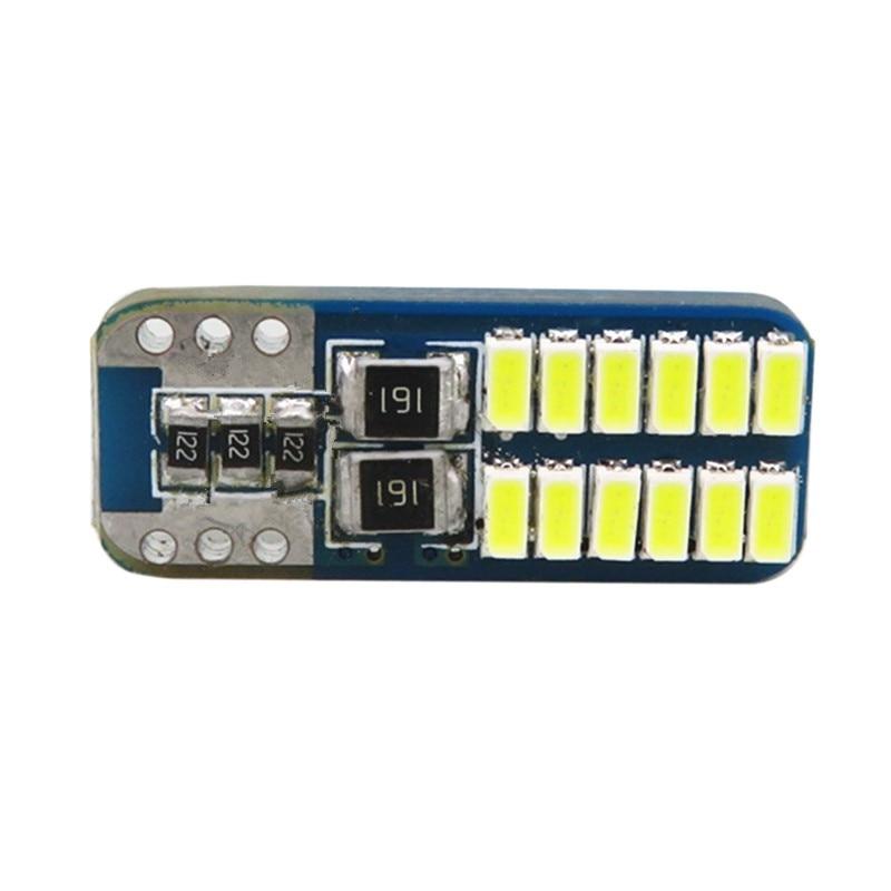WLJH 2x 12V Canbus T10 LED 501 W5W 3014 SMD მანქანის - მანქანის განათება - ფოტო 3
