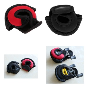 Image 1 - Kołowrotek wędkarski do rzucania przynęty osłony tarczy neoprenowy pokrowiec na kołowrotek odporny na zużycie kołowrotek torby czerwony/czarny 3.9x3.1x2.8 cala