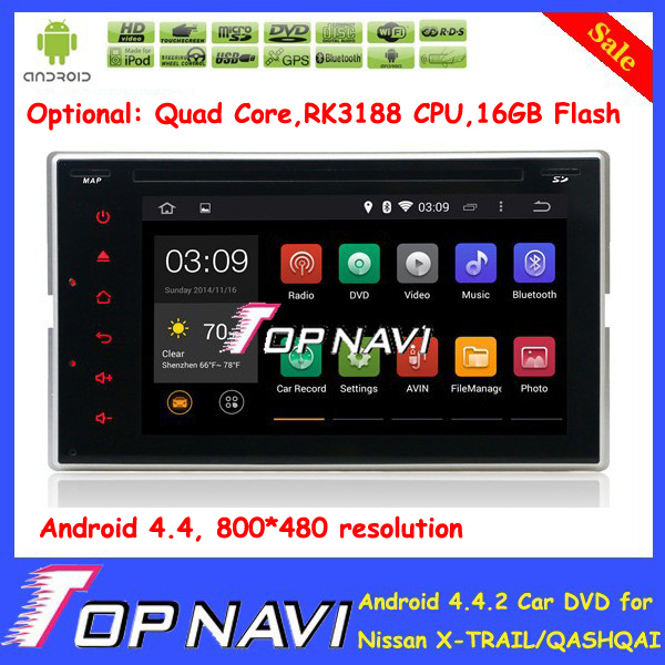 "6.2 ""HD 2 Din Android 4.4 Автомобильный DVD для Nissan X-Trail QASHQAI Versa MO300 Patrol Солнечный с GPS Wi-Fi 3 Г Радио Карта"