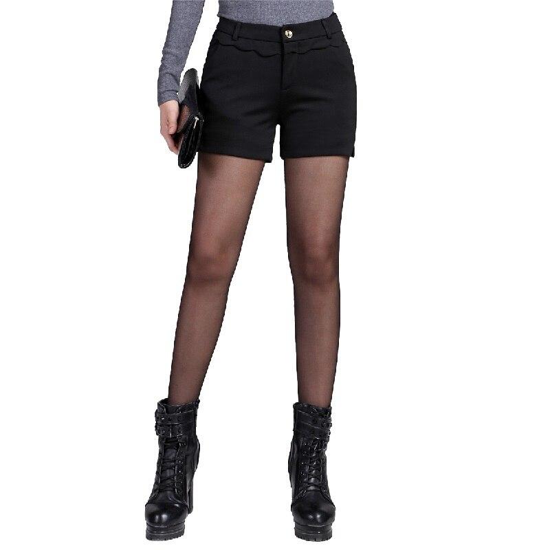 bb6b0b8f US $14.8 |2016 Wiosna Nowy Elegancki Połowy Pasa Czarne Spodenki Szorty  Damskie Eleganckie Biuro Jesień Bootcut Krótkie Spodnie w 2016 Wiosna Nowy  ...