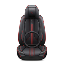 лучшая цена For Skoda Octavia Superb Yeti Fabia spaceback Rapid Sports Cushion Wear-Resistant Leather Car Seat Cover For 5 Seats