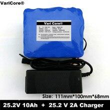 24 V 10 אה 6S5P 18650 סוללה ליתיום סוללה 24 v אופניים חשמליים טוסטוס/חשמלי/ליתיום יון חבילה + 25.4V 2A מטען
