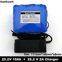 24 v 10 ah 6s5p 18650 bateria de lítio 24 v bicicleta elétrica ciclomotor/elétrica/bateria de íon de lítio + 25.4 v 2a carregador