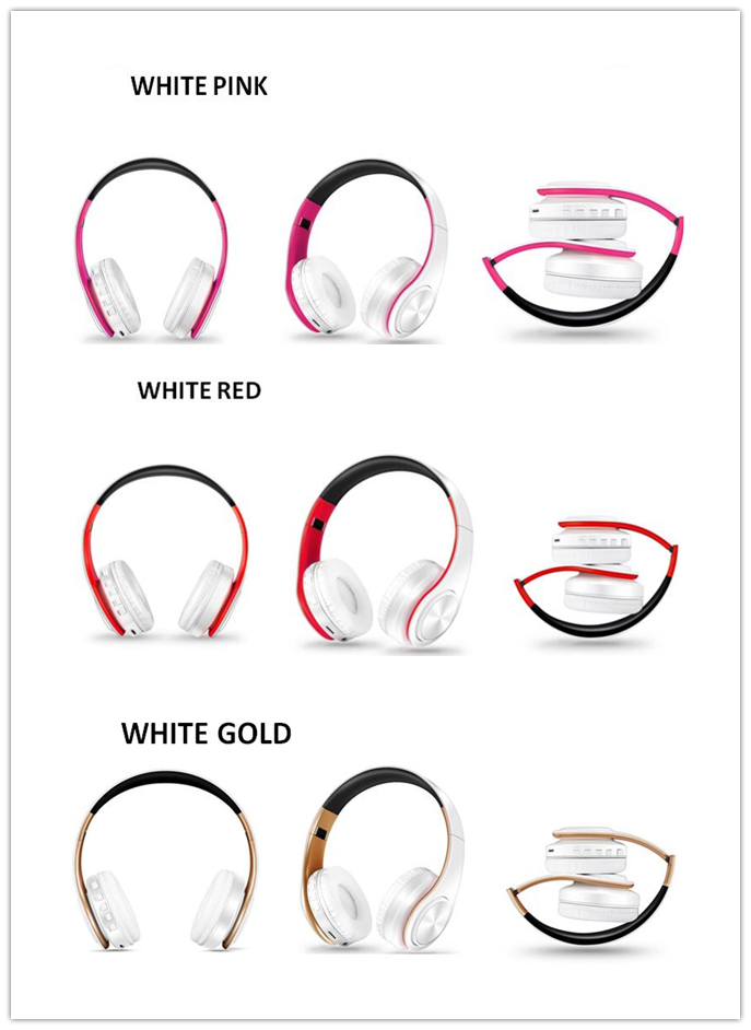 Stereo Earphones Bluetooth FM and Support SD Card  -   1mrk.com