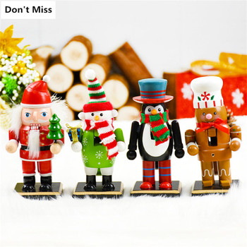 Christmas Decortions Nutcracker Puppet Doll Christmas Craft Wooden Toy New Year Gifts Christmas Figurines Cascanueces Navidad image