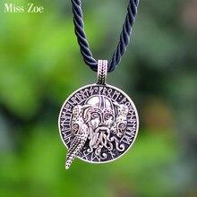3394b58138fb Miss Zoe guerrero vikingo Thor martillo colgante collares Odin Ravens  armadura cadena Retro Vintage joyería hombres regalo para .