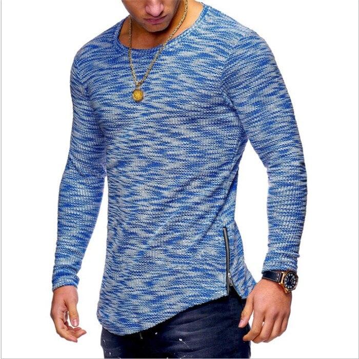 2018 NEW Trendy Summer Men Casual Long Sleeve T Shirt .Fitness Absorbent O Neck Plus Size T Shirt Muscle Man T Shirt