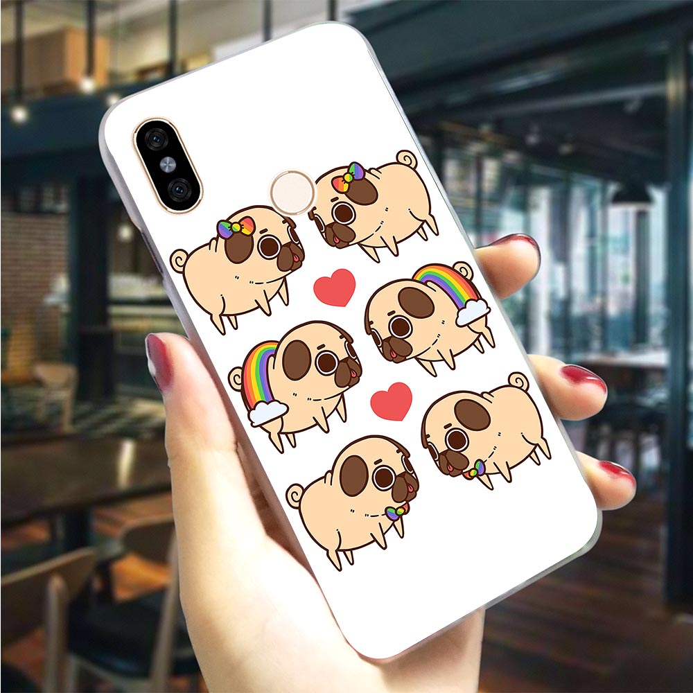 Hard Case for <font><b>Xiaomi</b></font> <font><b>Mi</b></font> 9se Penguin <font><b>Pug</b></font> Graffiti Skull <font><b>Cover</b></font> for <font><b>Xiaomi</b></font> <font><b>Mi</b></font> 8 Lite A1 <font><b>Cover</b></font> <font><b>A2</b></font> 6 F1 Back Case Hybrid image