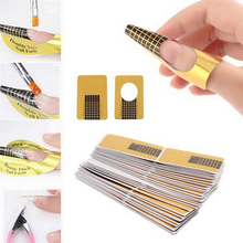 100Pcs Professional Acrylic Gel Nail Art Form Guide Sticker Extension N
