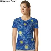 Galaxy Shirt Space Van Gogh Starry Night Short Sleeves 3d Print Tshirt Cool Brand Clothing 2017 High Quality Summer Top
