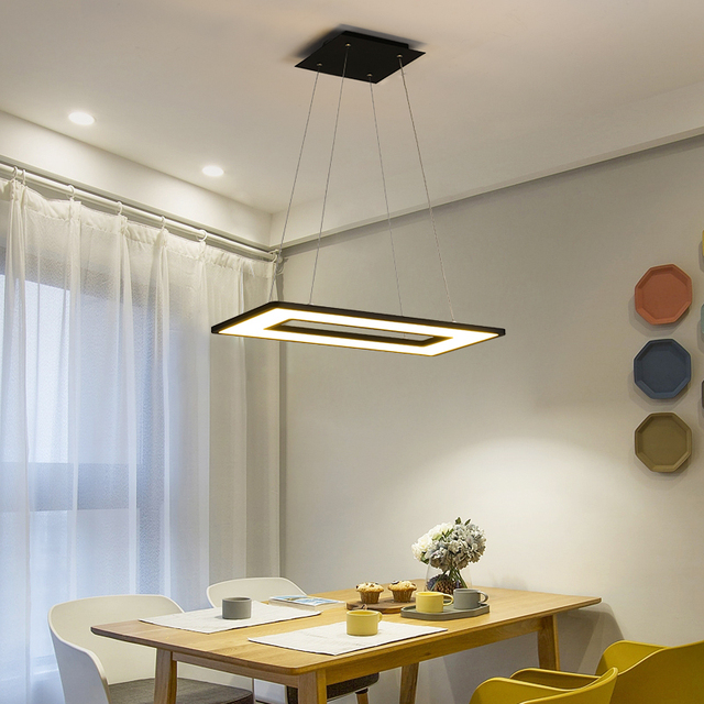 New Office Hanglamp Restaurant Pendant Lamp Square Led Lights Meeting Room Lighting Modern Mall Studio