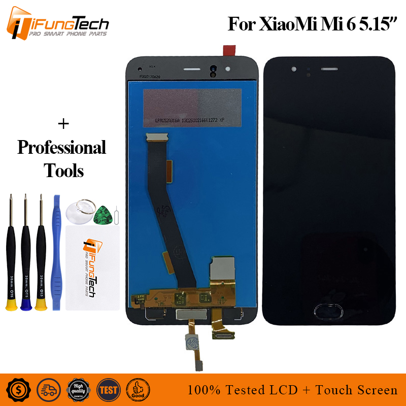 Brand New 5.15 For XIAOMI Mi6 LCD Display Mi 6 Touch Screen With Front Mounted Fingerprint Digitizer Frame Replacement Parts
