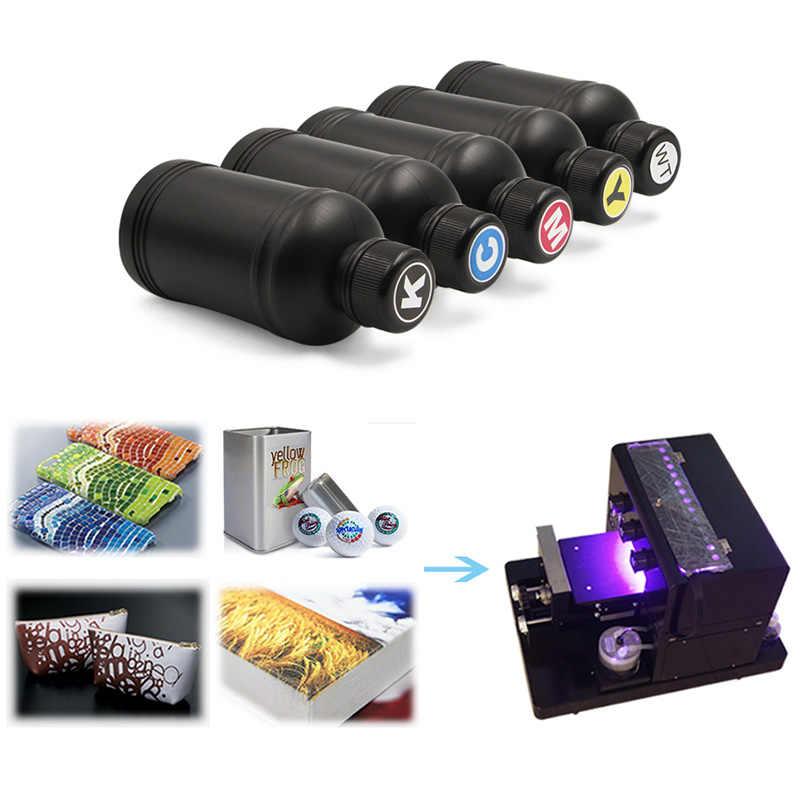6 Pcs 250 Ml Lembut dan Keras LED UV Tinta untuk DX4 DX5 DX6 DX7 Printhead untuk Roland untuk Mimaki mutoh Desktop atau Flatbed Pencetak Inkjet