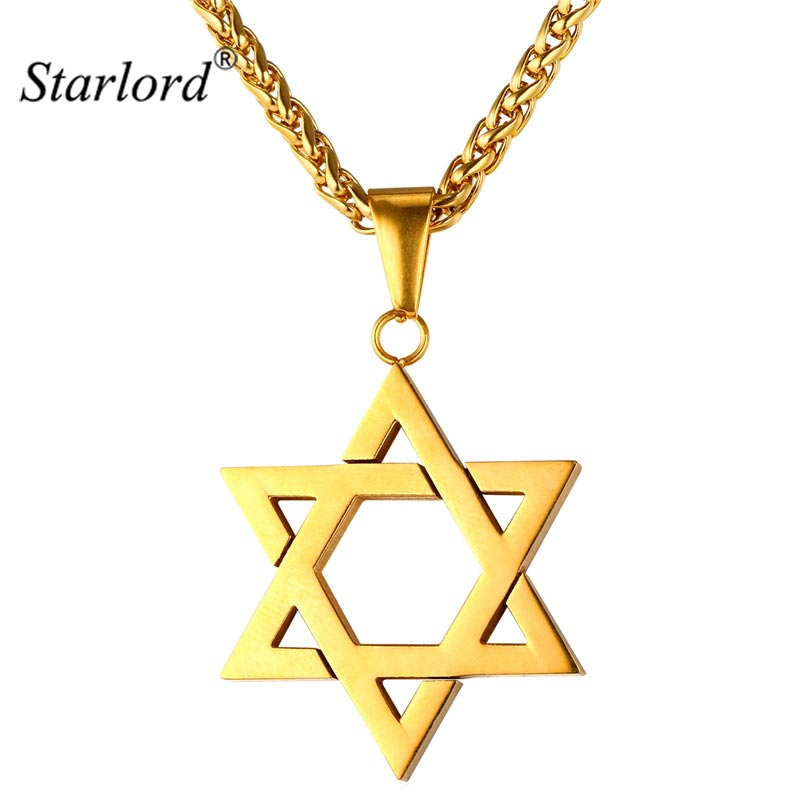 Starlord star of david pendant necklace jewelry stainless for Star of david necklace mens jewelry