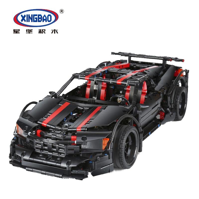 XINGBAO 07003 l'ultime sport voiture de course Compatible Legoinglys Technic 42056 modèle blocs de construction briques MOC voiture marque jouets