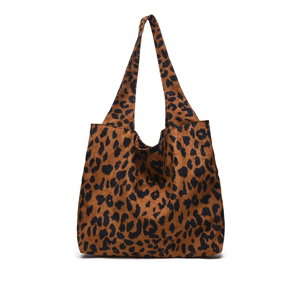 Miyahouse Fashion Plush Leopard Print Shoulder Bag For Women Corduroy  Winter High Capacity Handbags Lady Shopping Top Handle Bag-in Shoulder Bags  from ... b3b5a05195b43