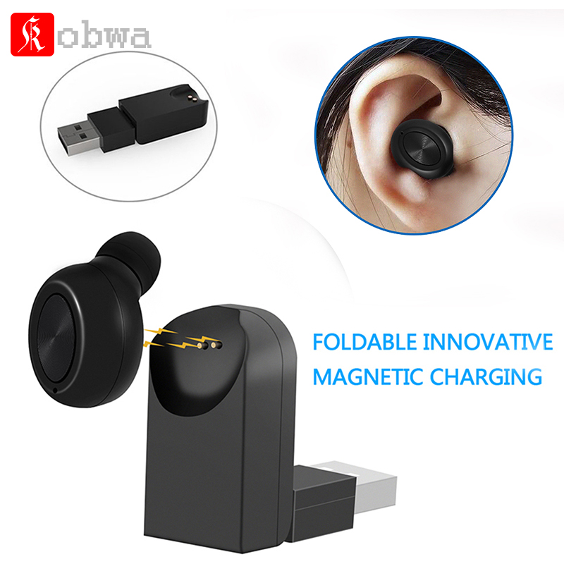 Mini Wireless Bluetooth Earbuds Headset Smallest Invisible In-Ear Earphone Earpiece Magnetic USB Chargers Hands-Free Car headset
