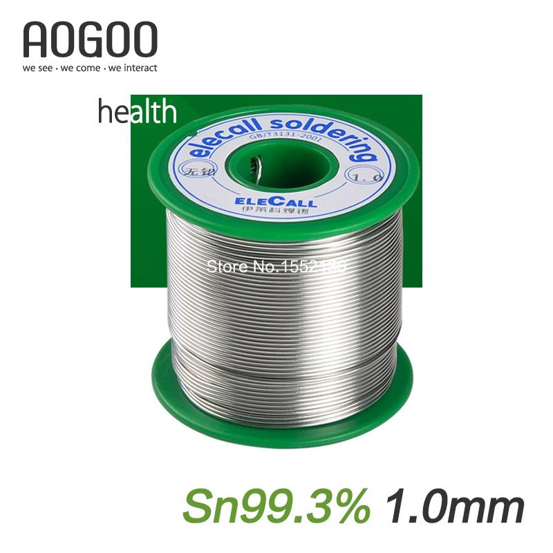 1.0mm Health Lead-Free Soldering Tin Wire Tin:99.3% 450g/roll qitian b5510200g lead tin soldering wire wick roll silver