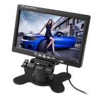 7 Inch 800x480 HD LCD Screen Rearview Display Backup Reverse System Monitor Support SD For Car