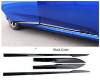 FOR HONDA CIVIC 2016 2017 ABS CHROME OR BLACK BODY MOLDING DOOR SIDE LINE GARNISH TRIM COVER PROTECTOR ACCENT LINING STRIP